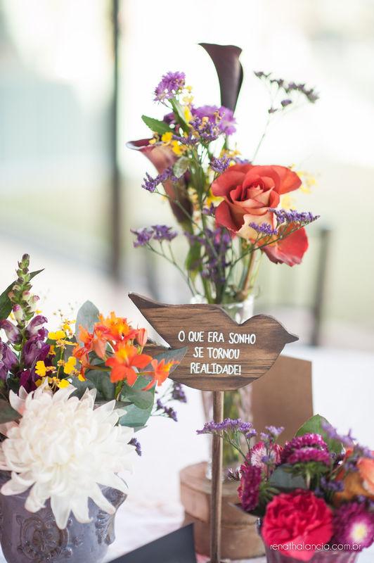 Casamento Aline & Maia - Decoração, Bouquet de Noiva e Acessórios - Vanessa Oz Flores  -  Casa Aragon