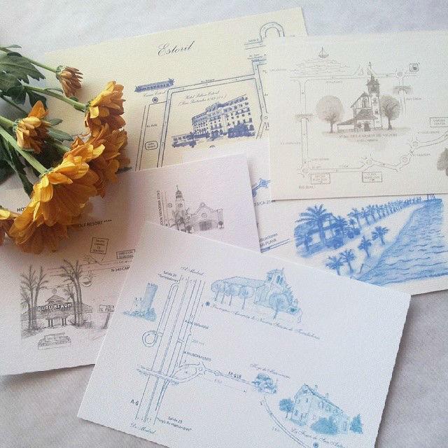 Planos de situación con ilustraciones