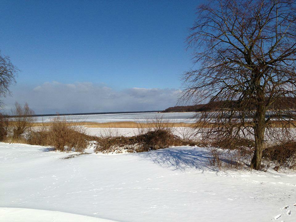 Beispiel: Umgebung bei Schnee, Foto: Gut Grubnow Rügen.