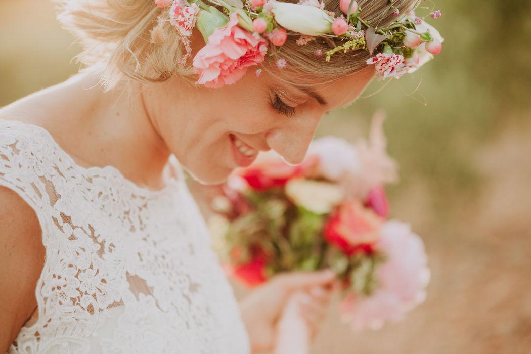 Tiara corona de flores