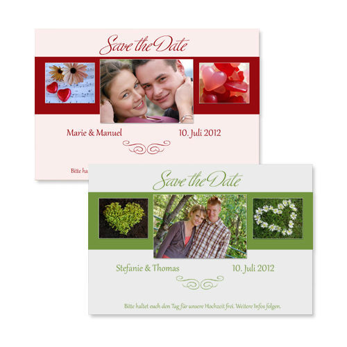Beispiel: Save the Date Karte, Foto: Colli-Cards.