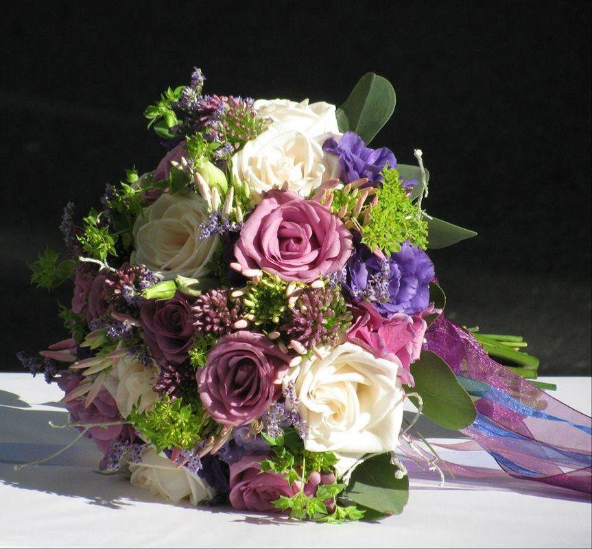Bouquet de Noiva Tons Rosa Velho e Roxo