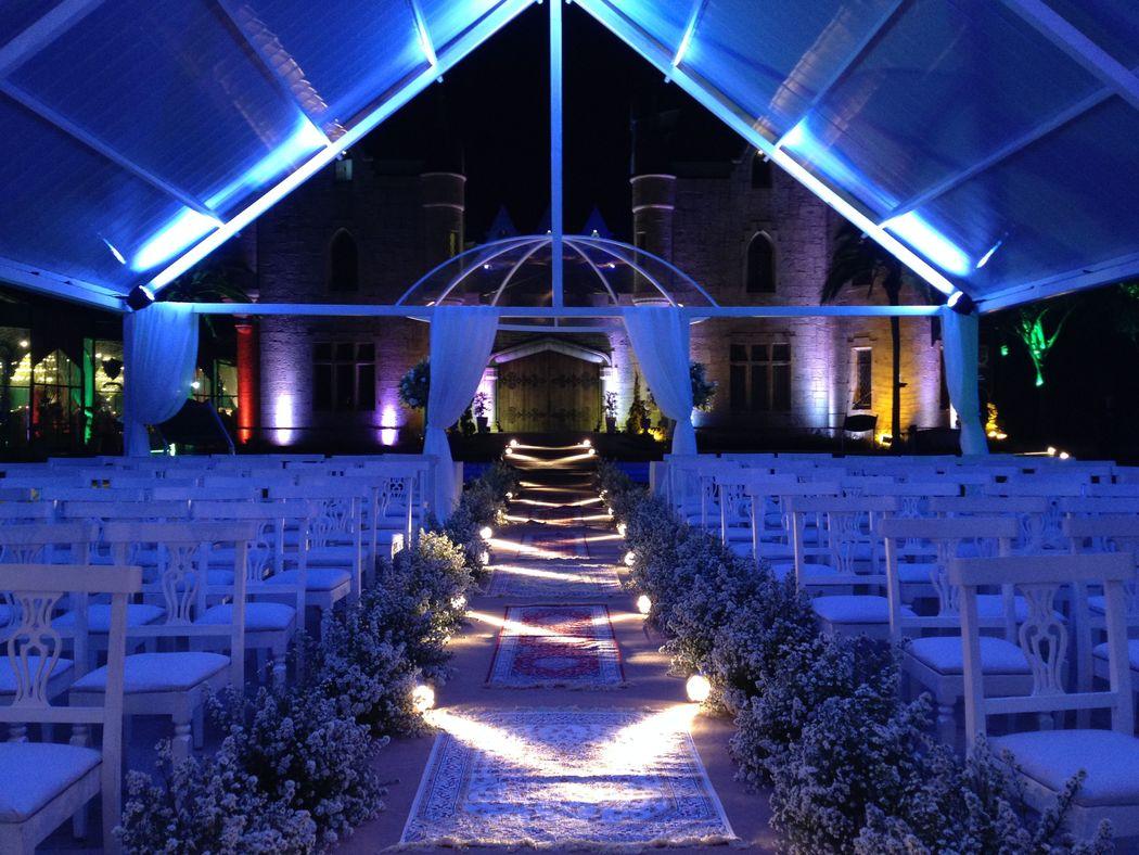 Iluminação de cerimônia (Castelo de Itaipava)