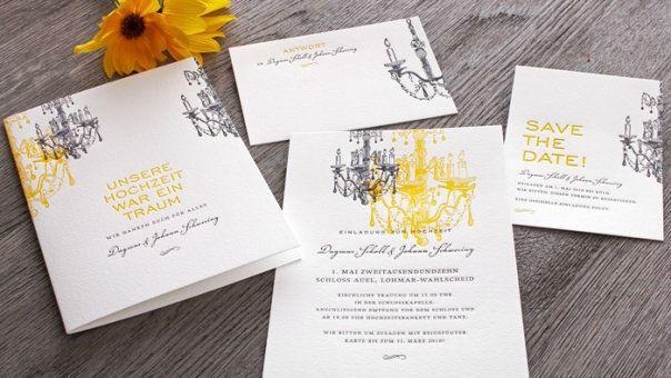 Beispiel: Hochzeitskartenset Sanssoucis, Foto: Honeybird.