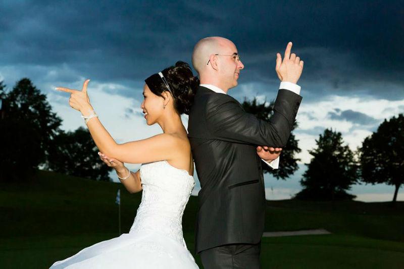Beispiel: Lustige Hochzeitsfotos, Foto: Alexander Vejnovic.