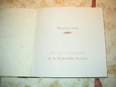 La cigüeña de papel, interior del libro de firmas