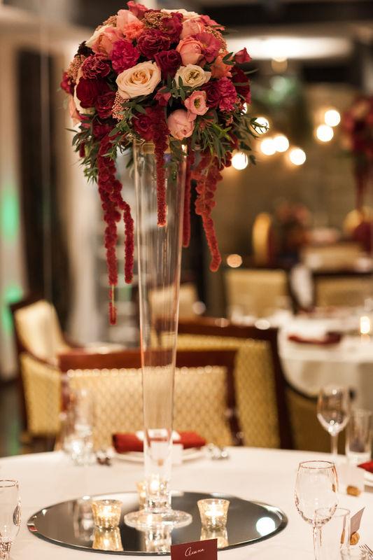 Свадьба в цвете Марсала