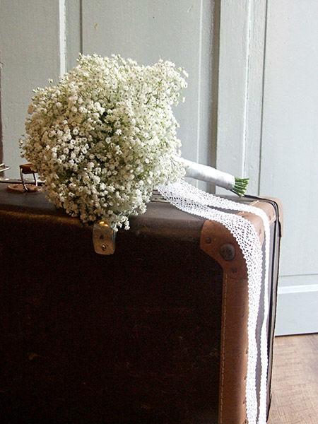 Beispiel: Hochzeits-Bouquet mit Schleierkraut, Foto: Evelyn Kühr.