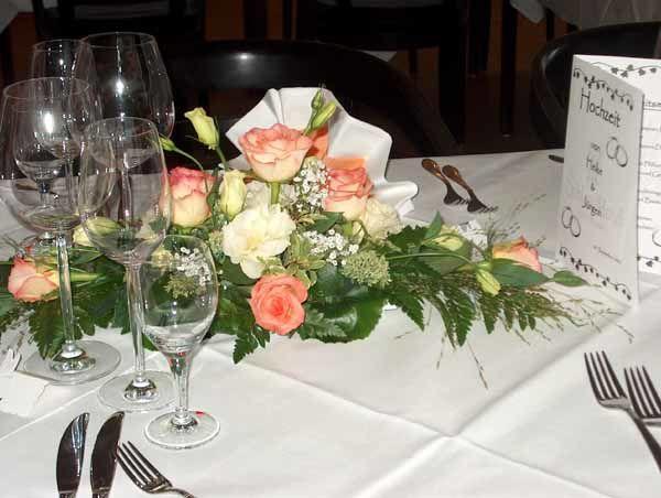 Beispiel: Tischdekoration, Foto: Schlosshotel Rockenhausen.