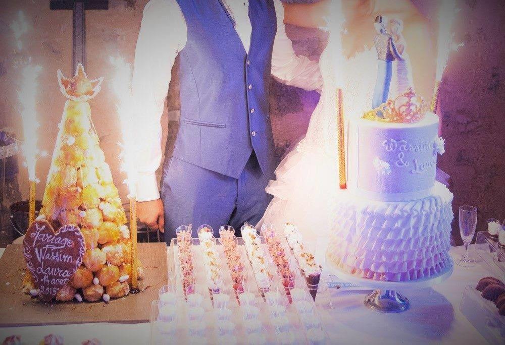 Présentation du wedding cake