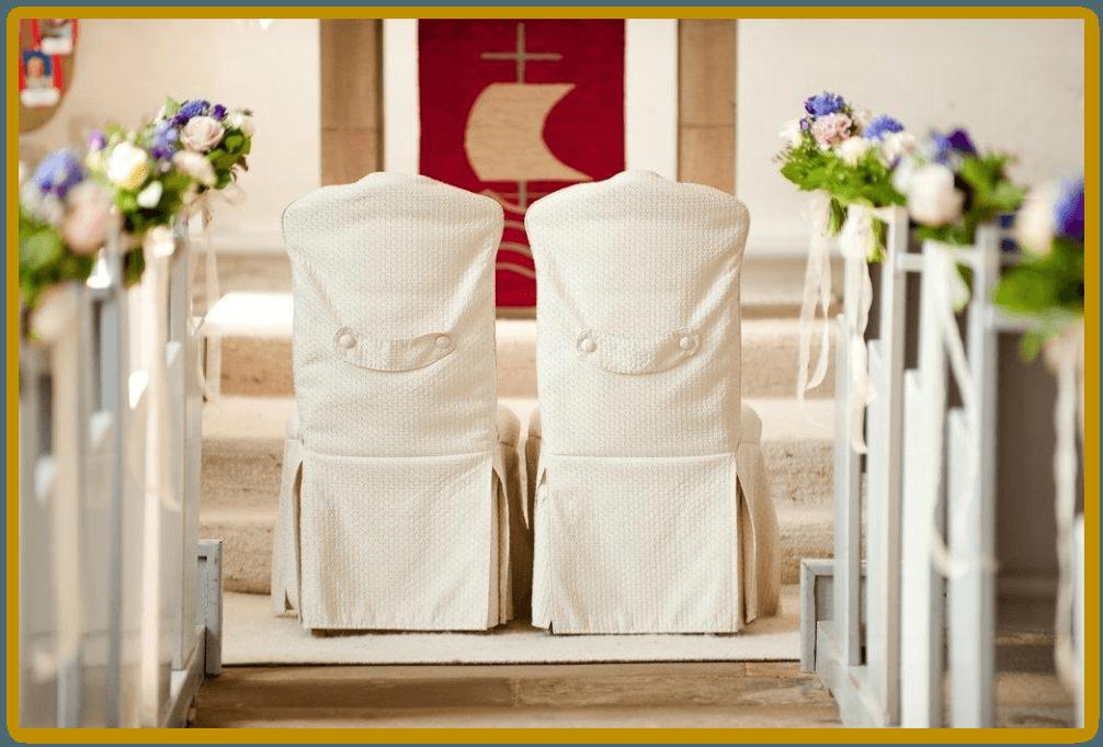 Beispiel: Kirchendekoration, Foto: Die Blumen-Lounge Göllner.
