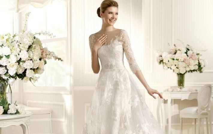 Beispiel: Brautkleid, Foto: Brautmoden Wiese.