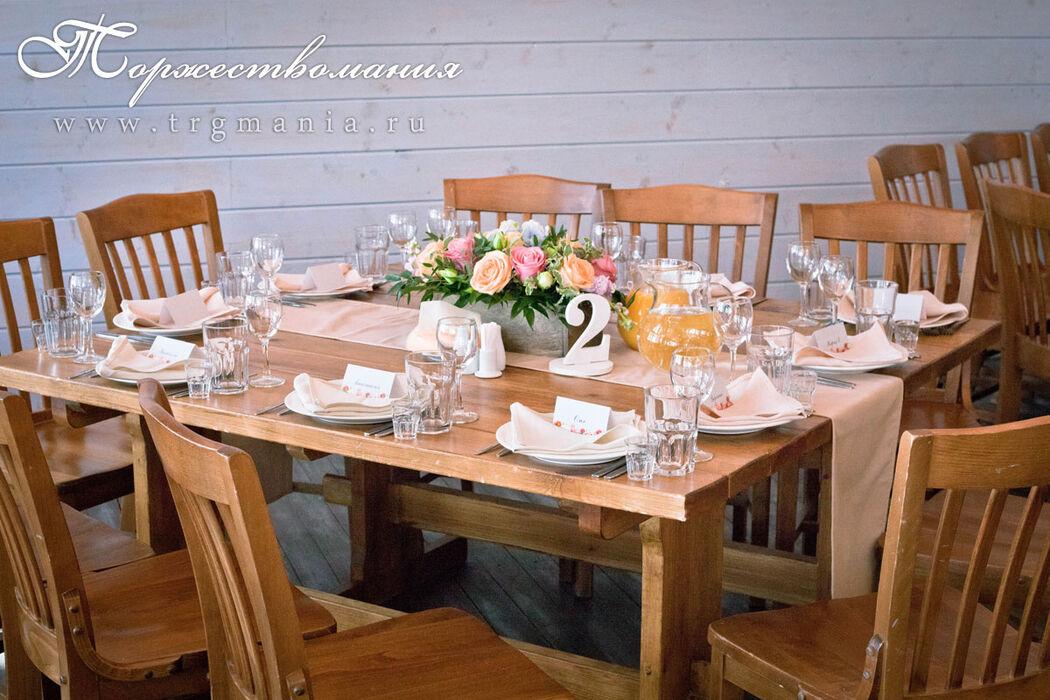 оформление зала в русской рыбалке от студии декора и флористики торжествомания