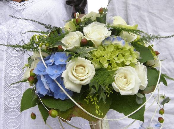 Ramo de novia redondo