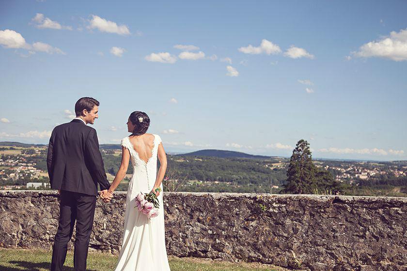 Séance photo des mariés - Terrasse sud