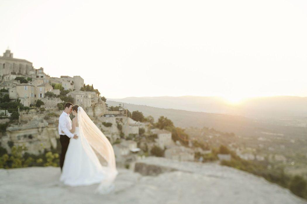 hochzeitslicht-Foto von After-Wedding-Fotoshooting in Provence