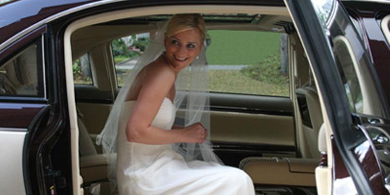 Beispiel: Ihr Brautauto, Foto: Maybach Limousinen Service.