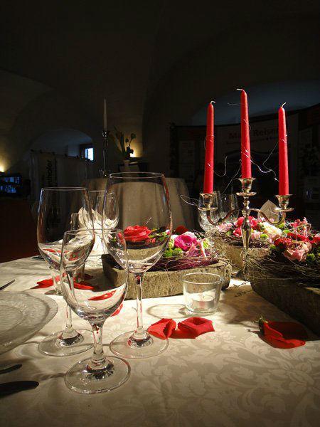 Beispiel: Tischdekoration, Foto: Schloss Mattsee.