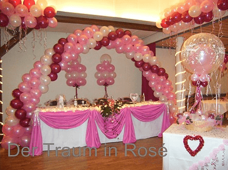 Beispiel: Hochzeitsdekoration Ballons, Foto: Balloonia.
