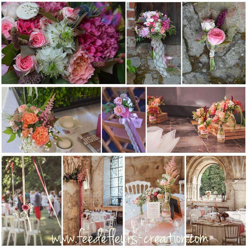 Mariage romantique et vintage à L'Abbaye de Vaucelle.