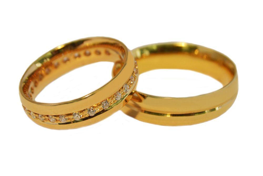 Alianças Casamento Ouro Amarelo ALBIC17A