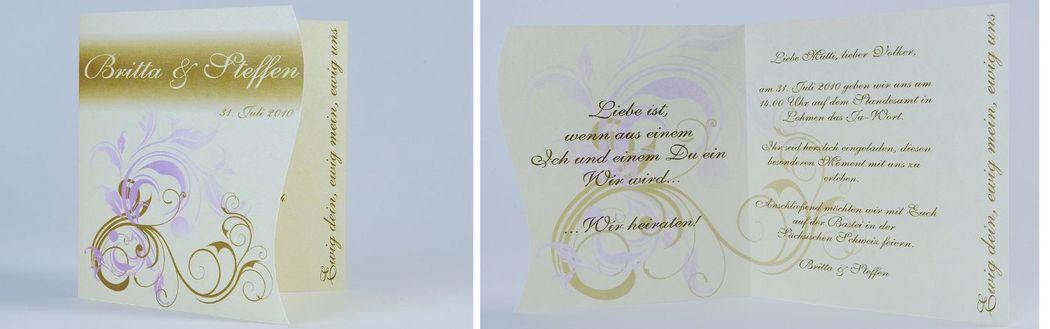 Beispiel: Einladungskarte, Foto: cardstyle.de.