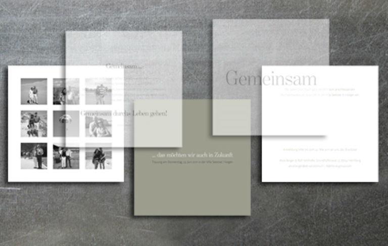 Beispiel: Kreative Hochzeitskarten, Foto: tellme.