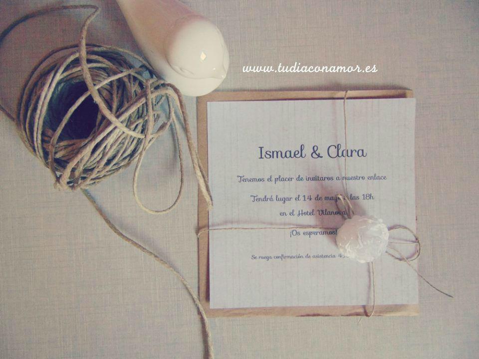 Invitaciones de boda de estilo vintage