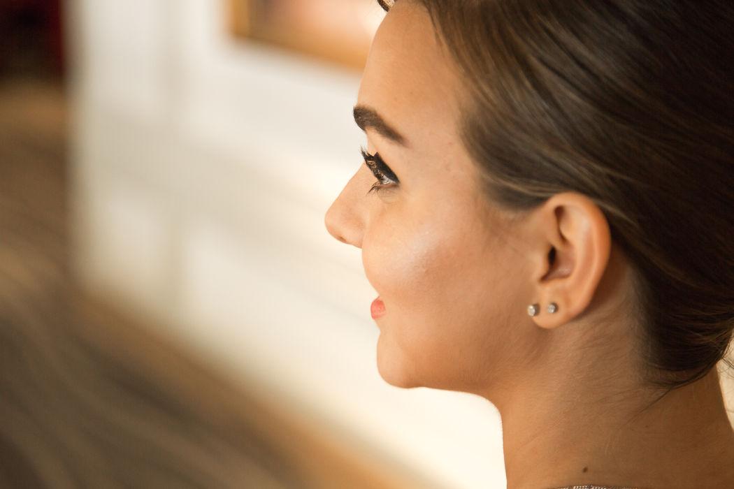 Detalle maquillaje - Prepraración de la novia