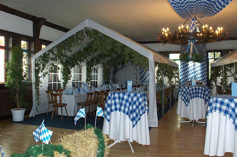 Beispiel: Gestaltungsmöglichkeit, Foto: Burgrestaurant Burg Gleiberg.