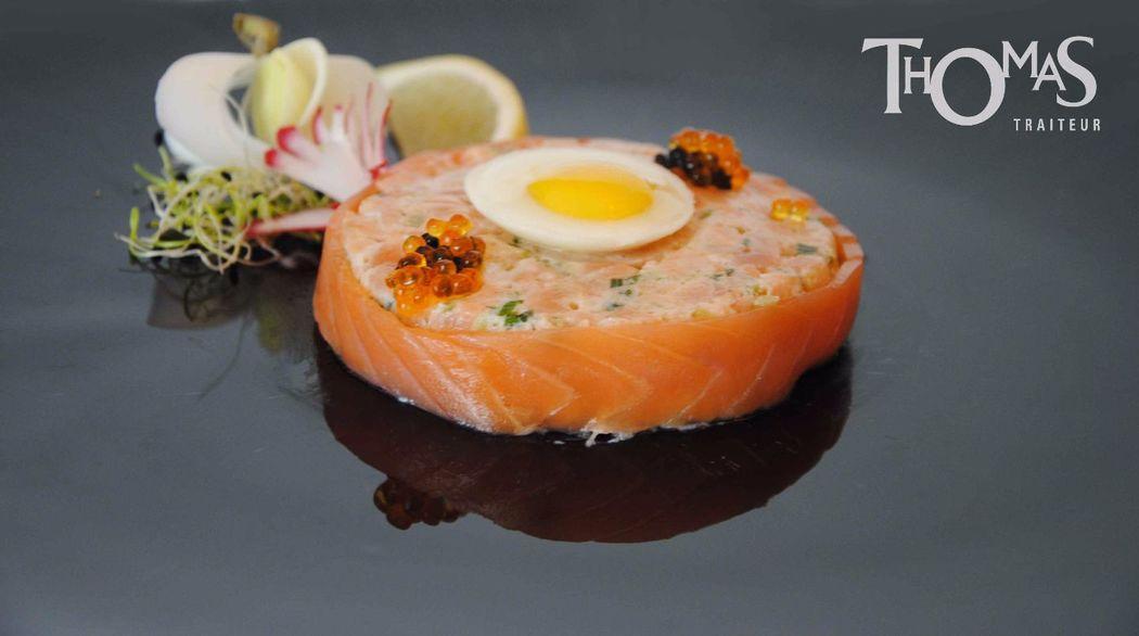 Entrée Froide : Rosace de Tartare de saumon