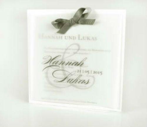Beispiel: Hochzeitskarte, Foto: Glock Druck.