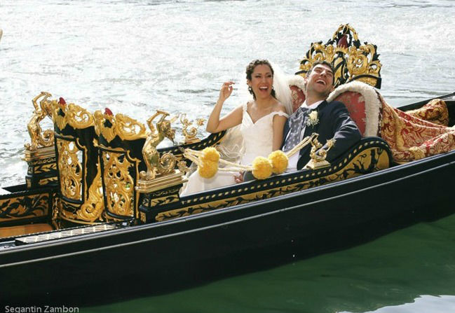 Sposi in gondola