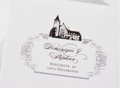 Beispiel: Hochzeitseinladung, Foto: Andrea Stähr.