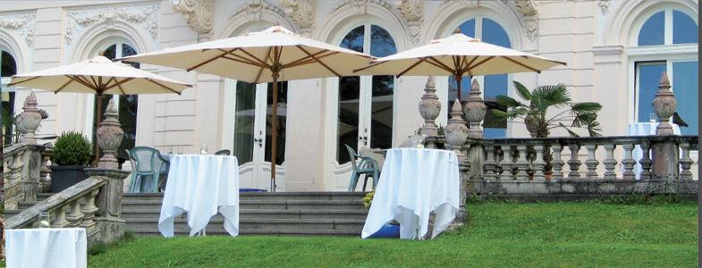 Beispiel: Apero im Freien, Foto: Villa Raczynski.