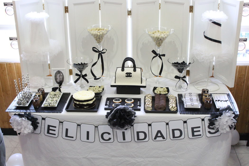 Mesa dulce inspirada en Chanel