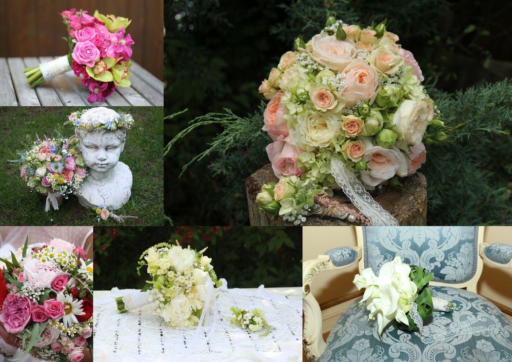Ein liebevoller Gruß an die Braut...ihr Traumbrautstrauß, individuell zusammengestellt und mit Liebe gebunden.