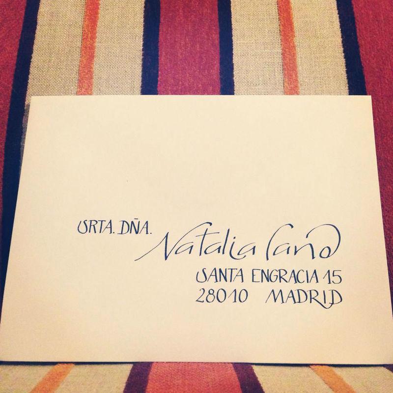 Claigrafía en invitación