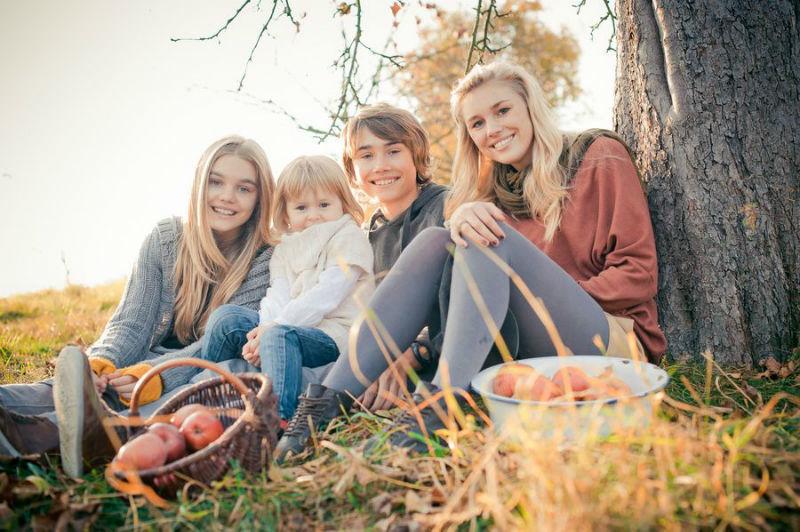 Beispiel: Familienfoto, Foto: Friedemann Thomas.