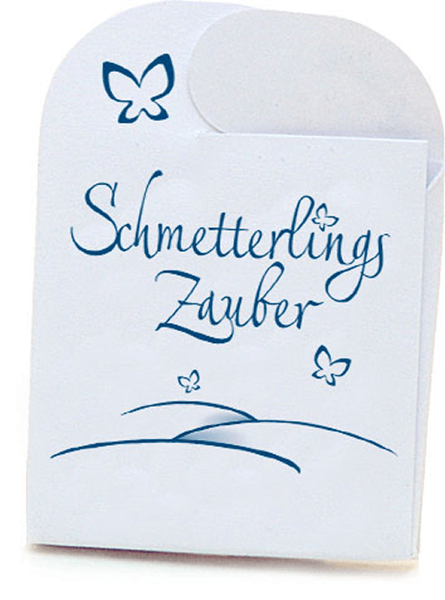 Beispiel: Schmetterlings-Briefchen, Foto: Schmetterlingszauber.
