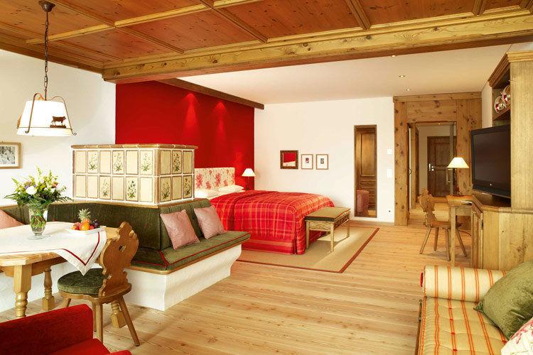 Beispiel: Doppelzimmer Deluxe, Foto: Interalpen Hotel.