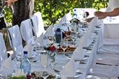 Beispiel: Hochzeitstafel, Foto: Kaffee Rosengarten.