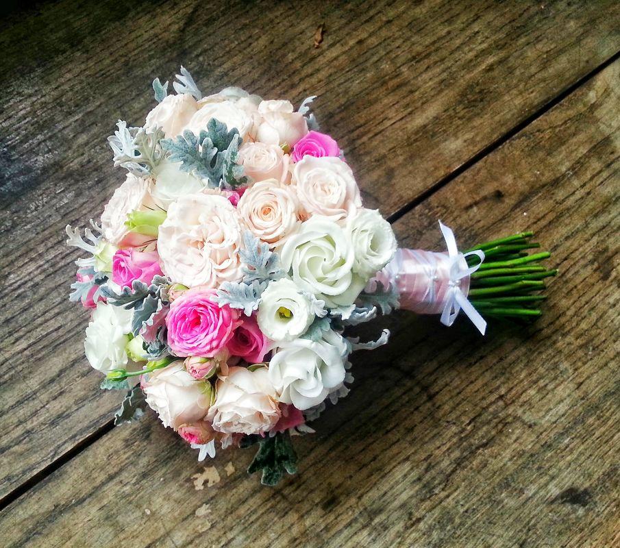 Pastelowe love :) różowe róże. Cena - 260 zł