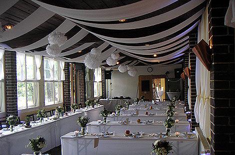 Beispiel: Hochzeitsgedeck, Foto: Waldbadgaststätte Weixdorf.