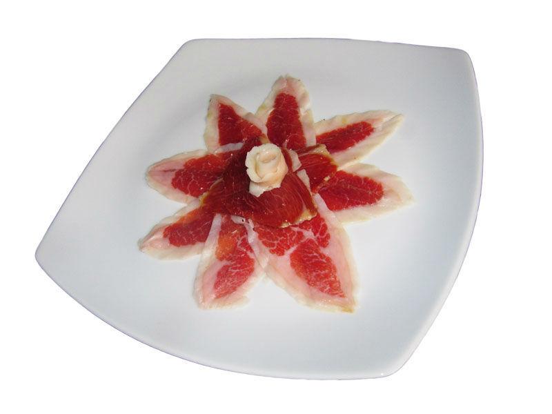 Plato de presentación de jamón