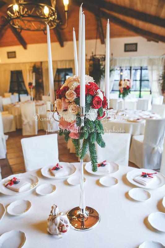 Danila Olivetti - winter wedding - mise en place