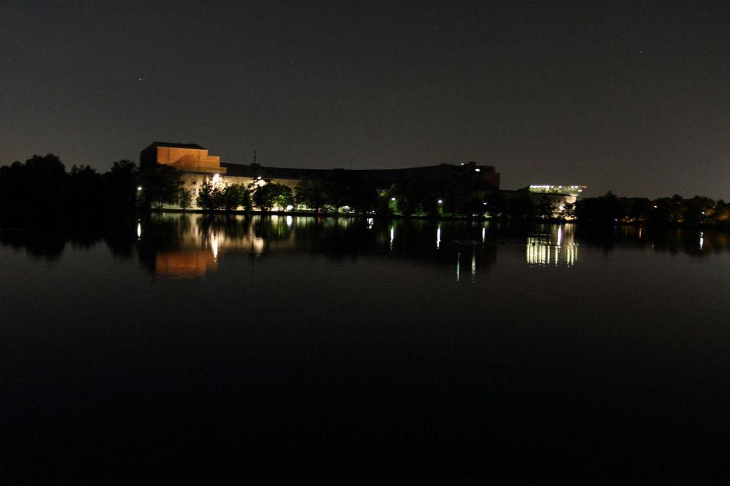 Beispiel: Aussenansicht bei Nacht, Foto: Strandhaus Nürnberg.