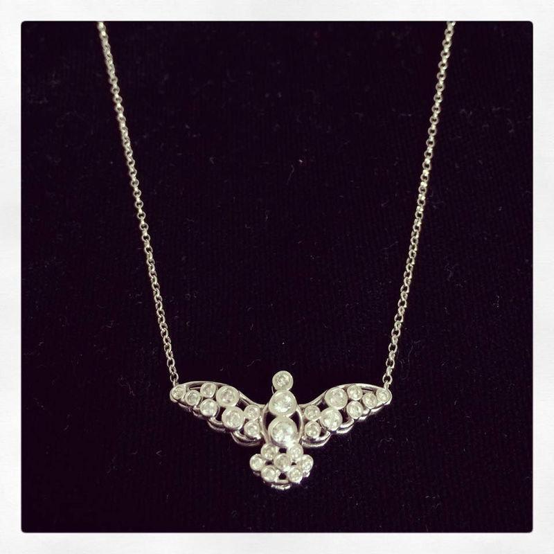 Colar Divino em ouro branco e diamantes!