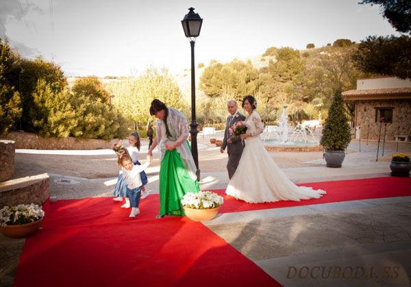 Celebración de la boda al aire libre