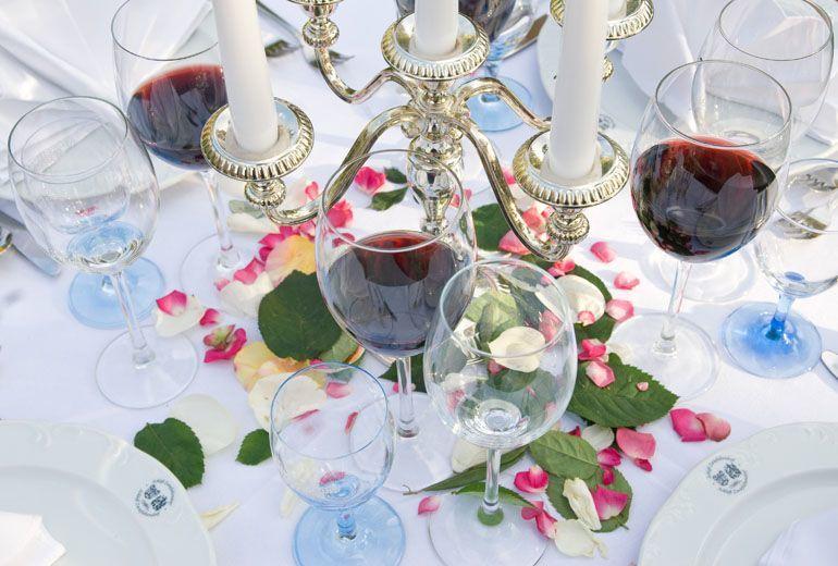 Beispiel: Tischdekoration, Foto: Schloss Ehrenfels.